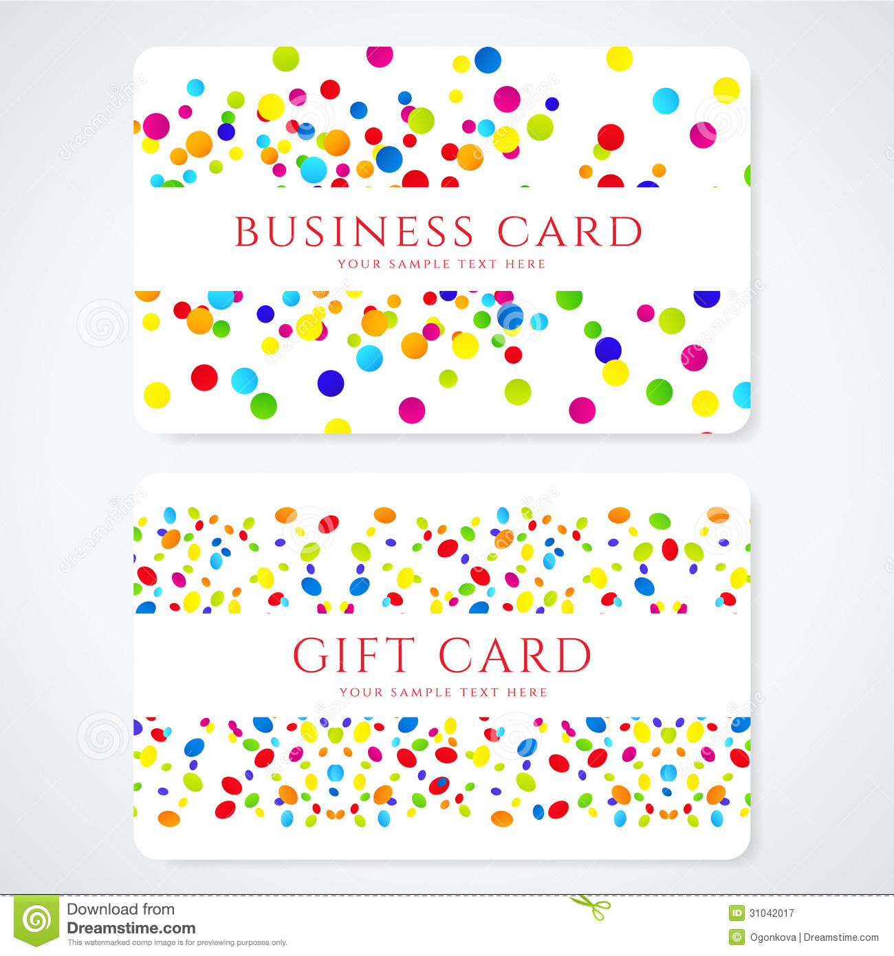 Colorful Business Gift Card Template Abstract Stock Vector - Business gift certificate template free