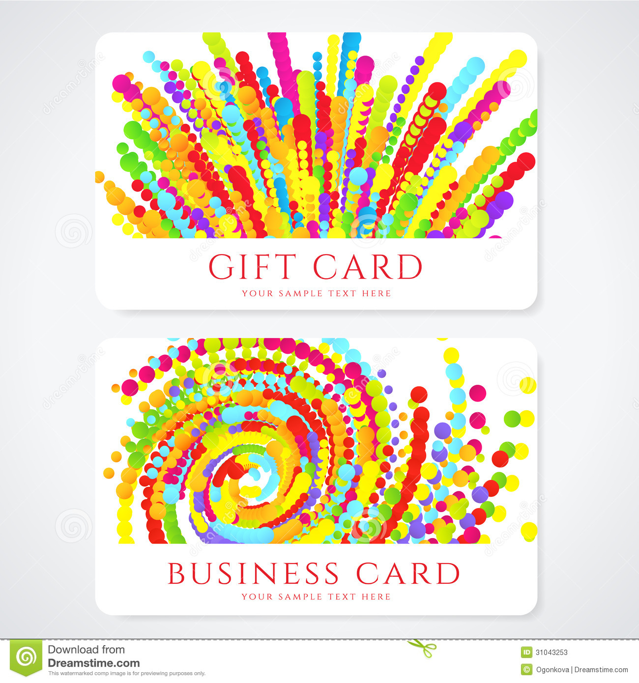 Colorful Business / Gift Card Template. Abstract Stock Vector ...