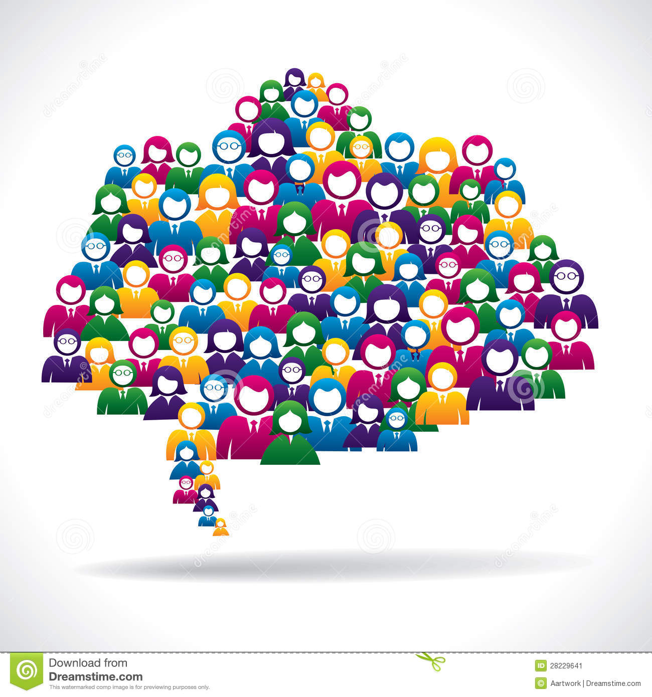 Colorful Business People Communication Concept Stock Image Image 28229641