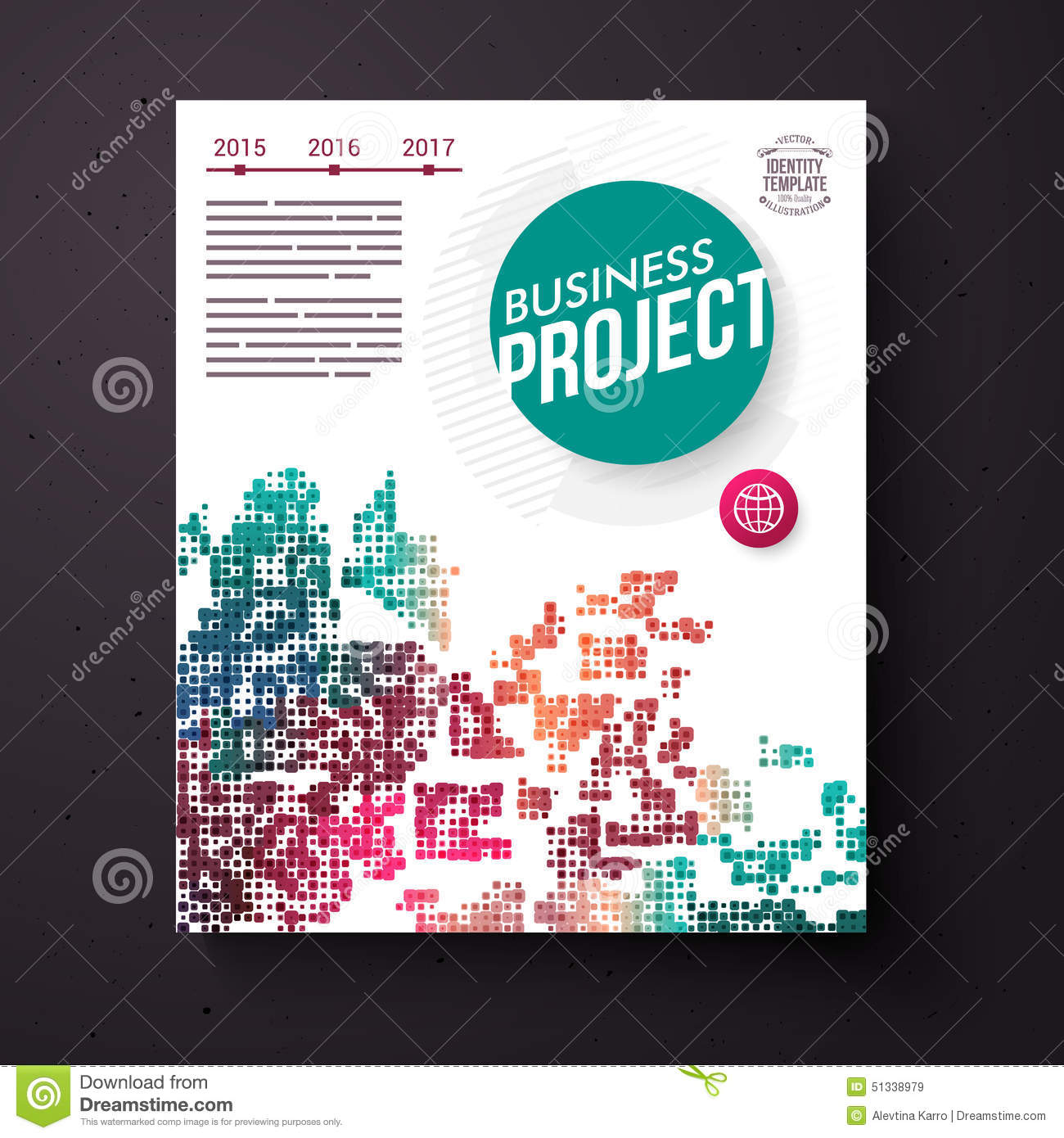 business project title page vector template stock vector image colorful business project design template royalty stock images