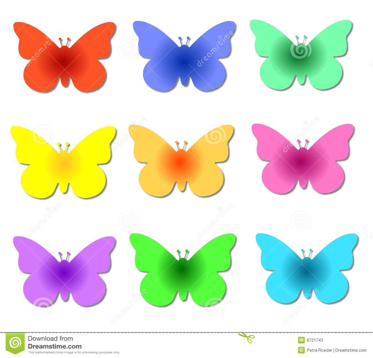 Colorful Butterflies Stock Illustration Illustration Of Nature