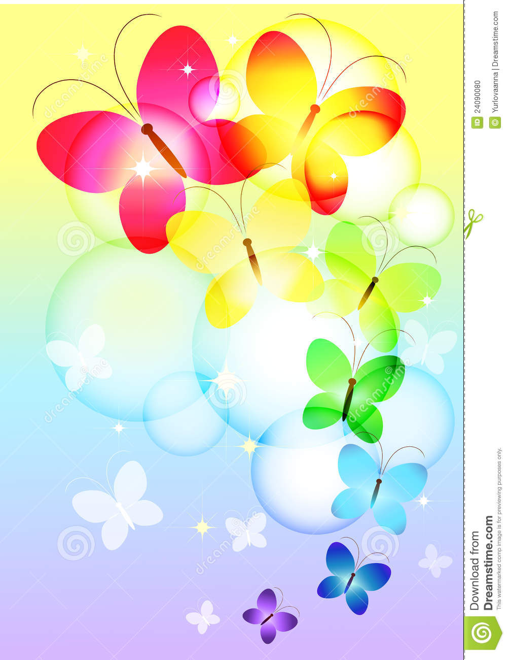 Colorful Butterflies Flying Stock Photo - Image: 24090080