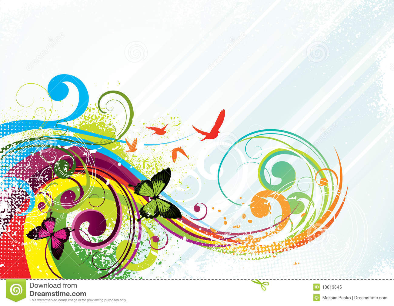 Colorful Butterfly Background Stock Vector - Illustration ...