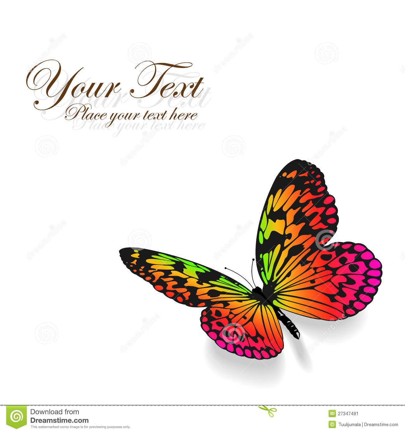 Colorful Butterfly Background. Stock Image - Image: 27347491
