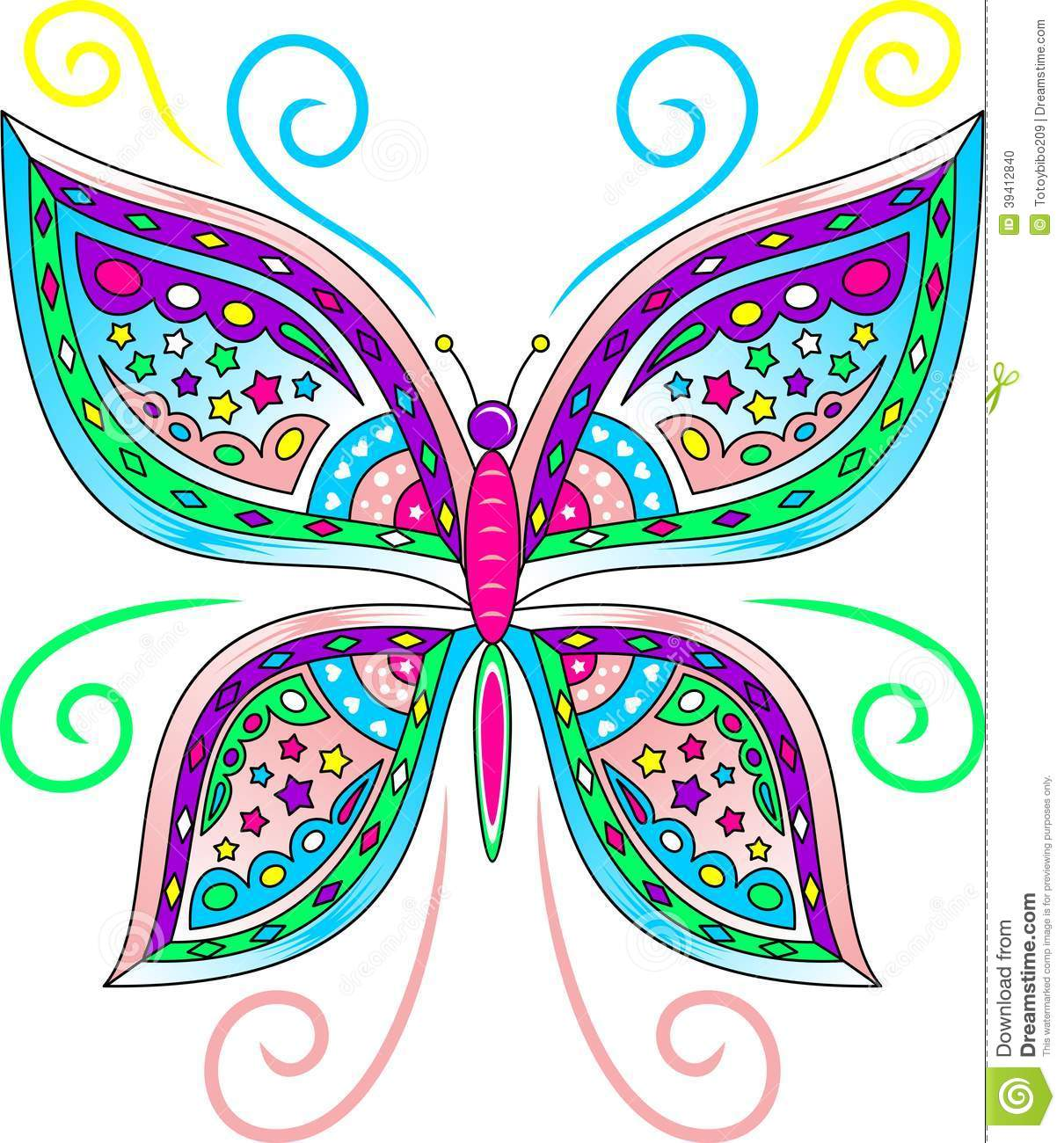 Colorful Butterfly Vector Stock Vector Image Of Corel