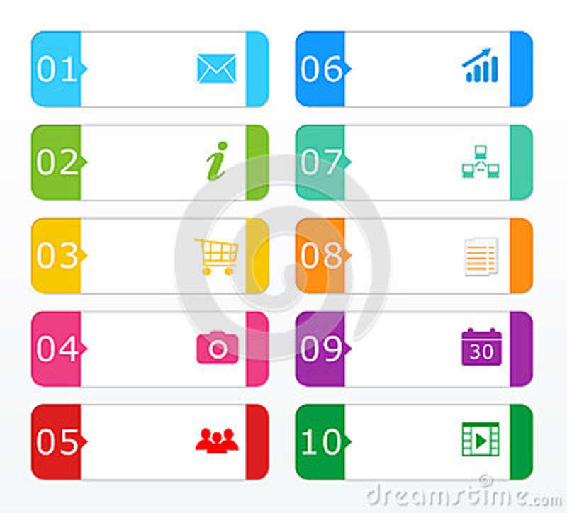 Colorful buttons for Web