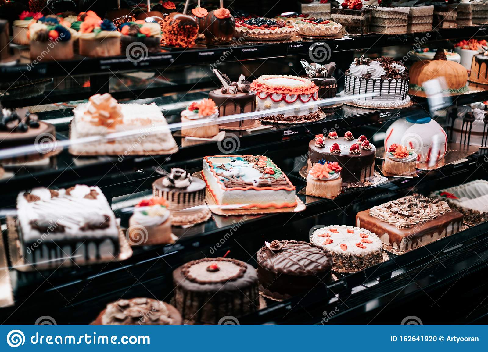 Awe Inspiring Colorful Cakes On Shop Window For Sale At Safeway American Personalised Birthday Cards Paralily Jamesorg