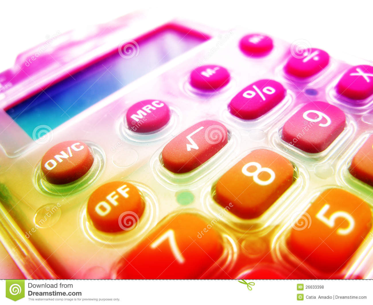 colorful calculator royalty free stock photos