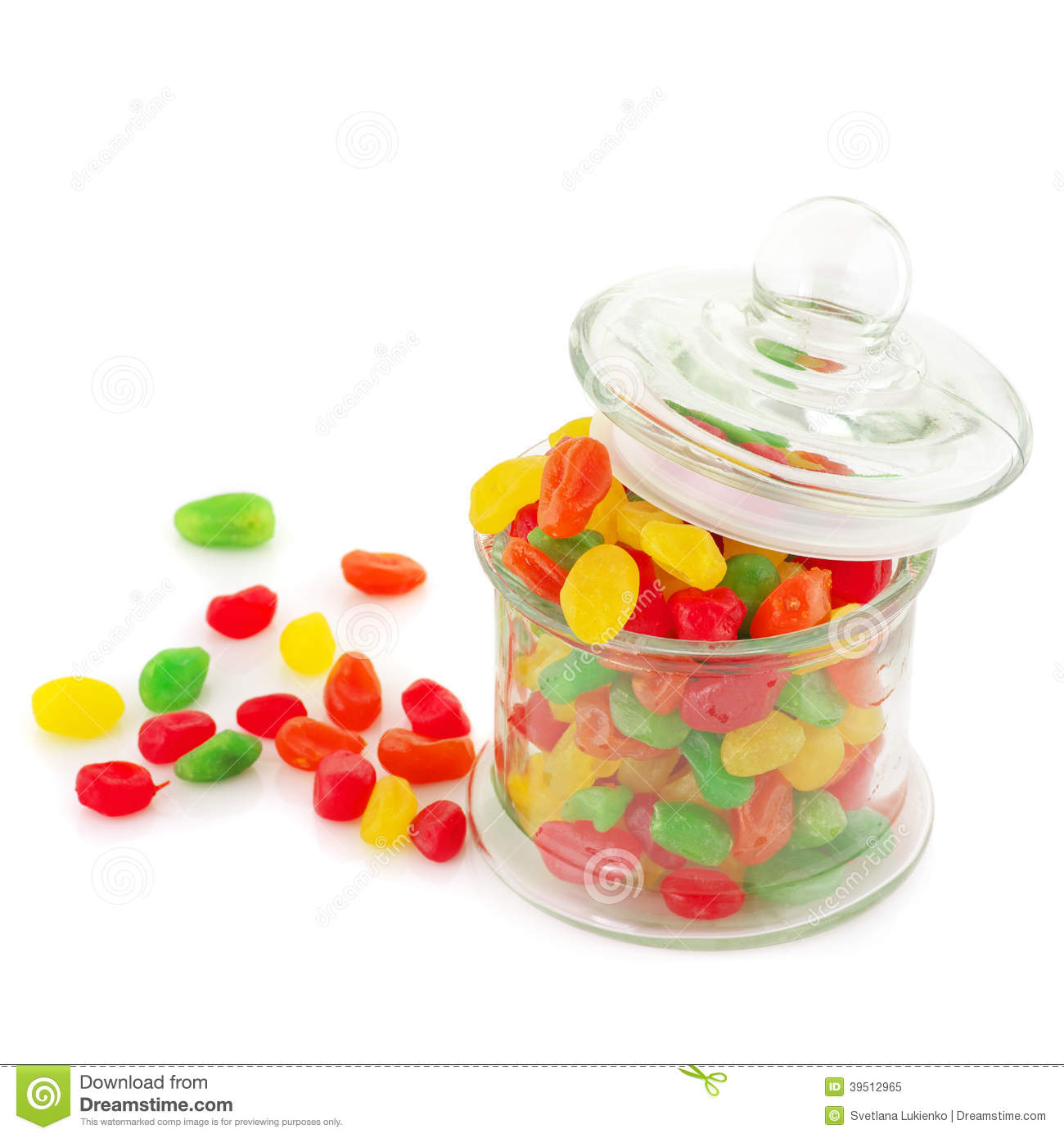 Colorful candied fruits