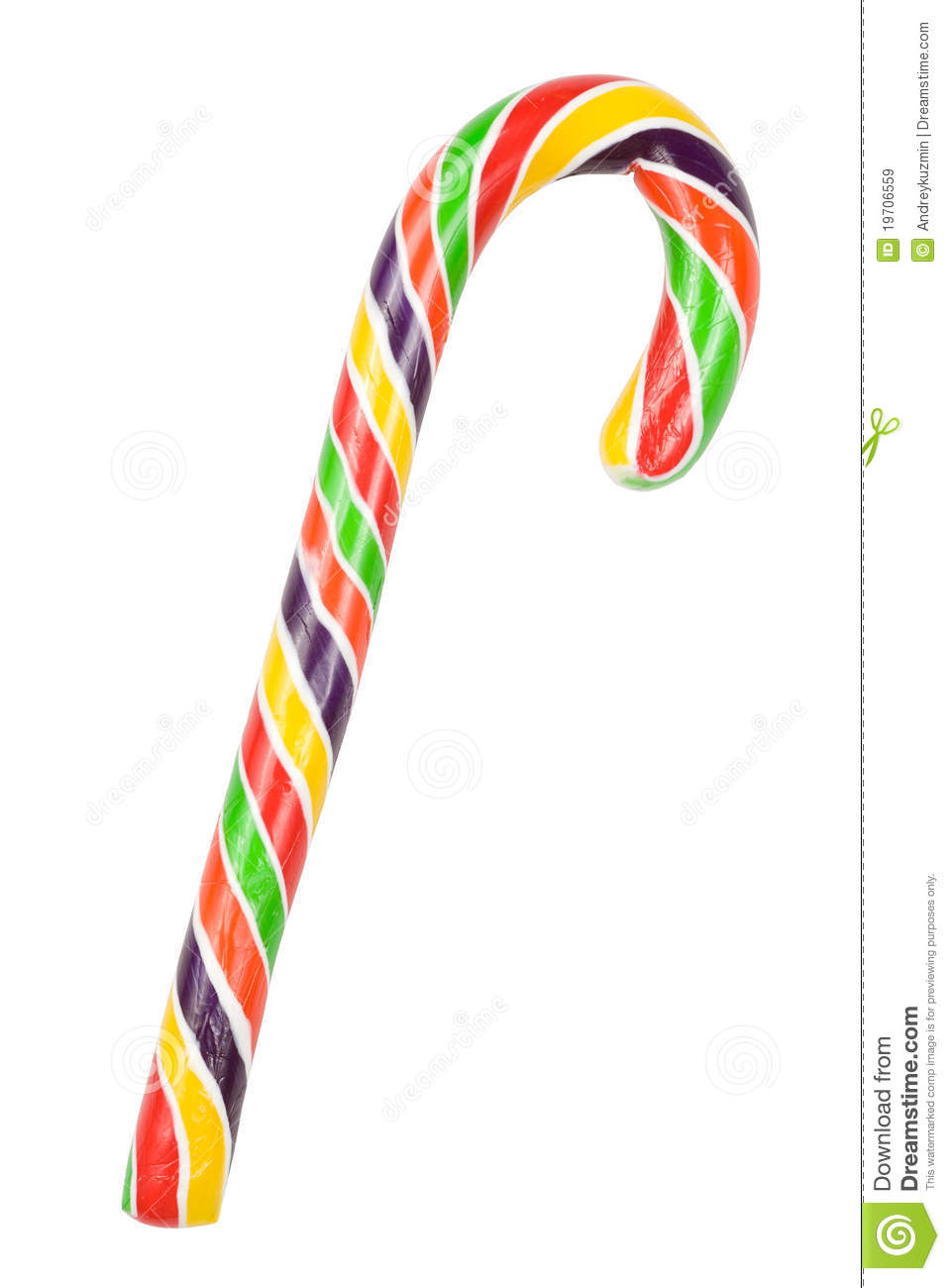 colorful candy cane isolated with clipping path stock image