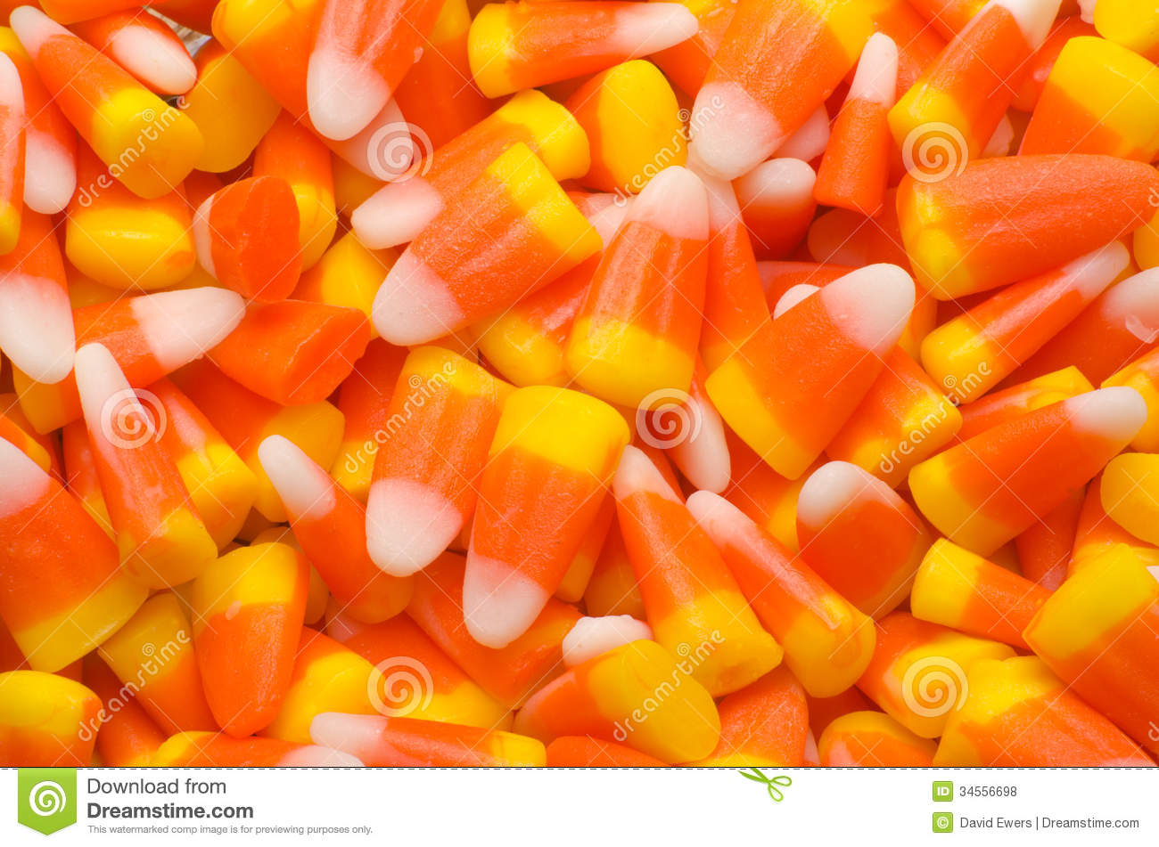 Colorful candy corn background.