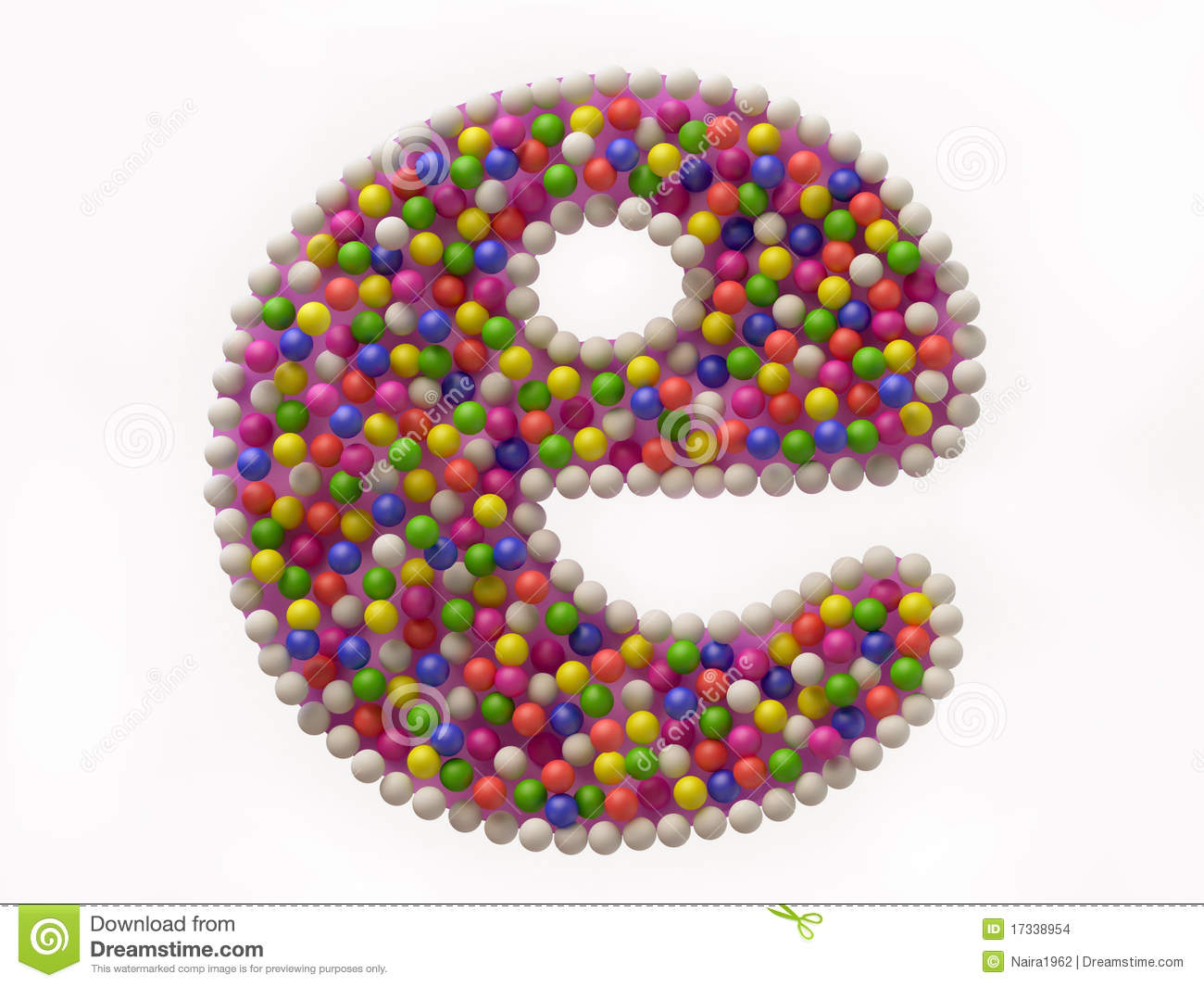 Colorful candy e symbol for internet stock illustration colorful candy e symbol for internet biocorpaavc