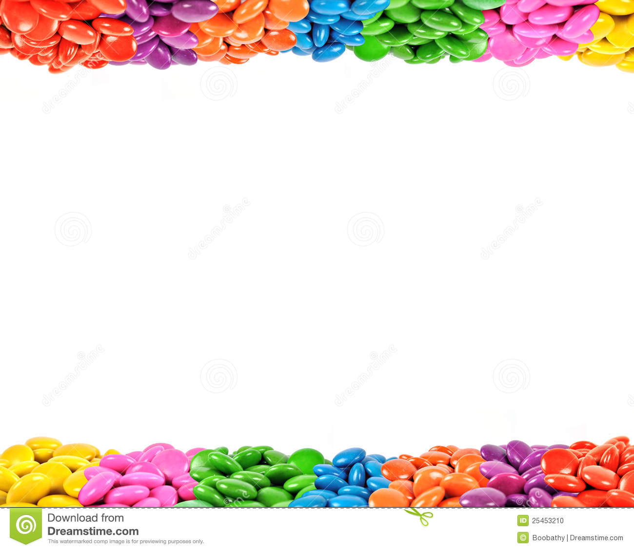 Colorful Candy Frame Stock Photo - Image: 25453210