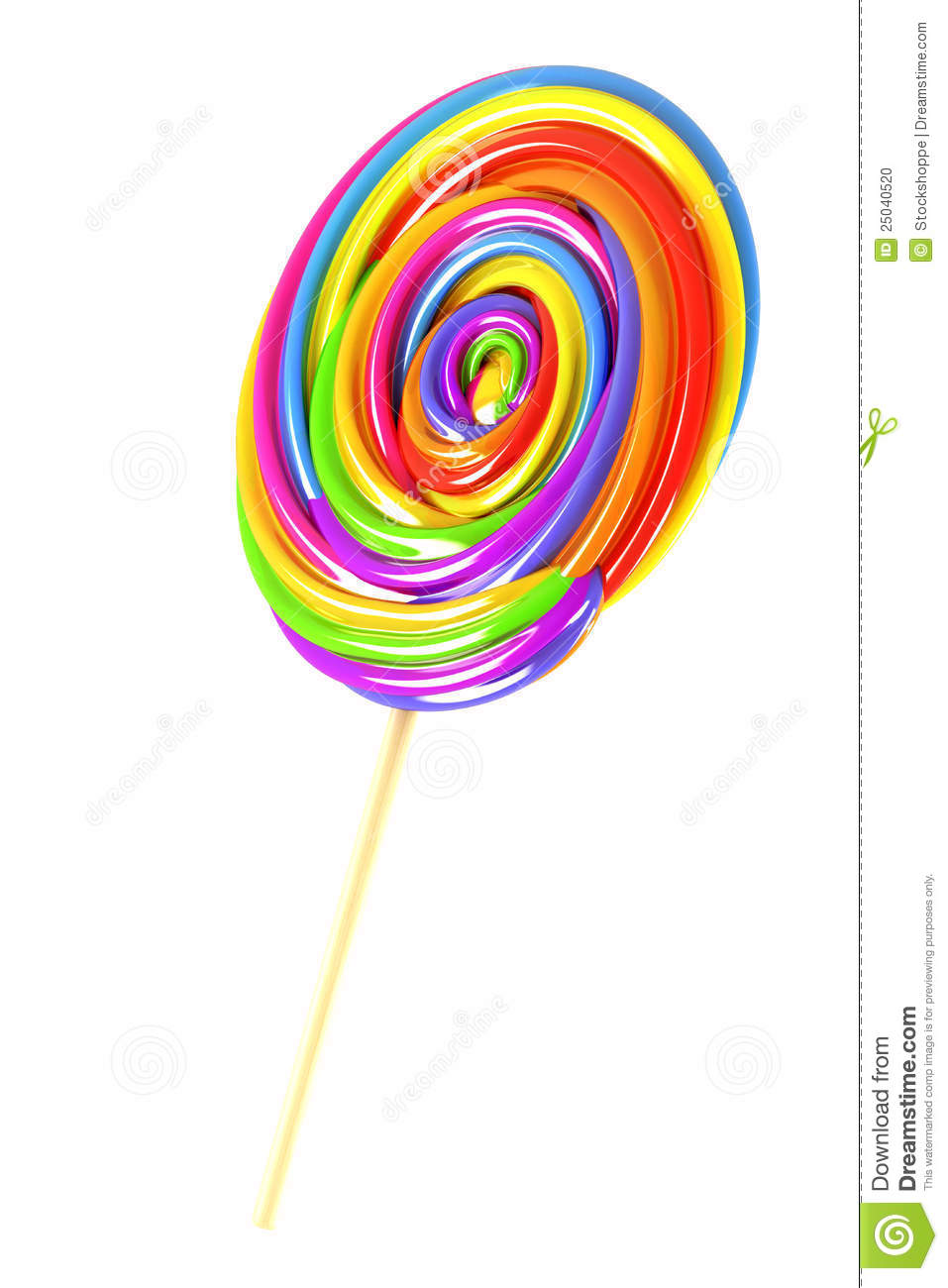 Colorful Candy Lolly S...