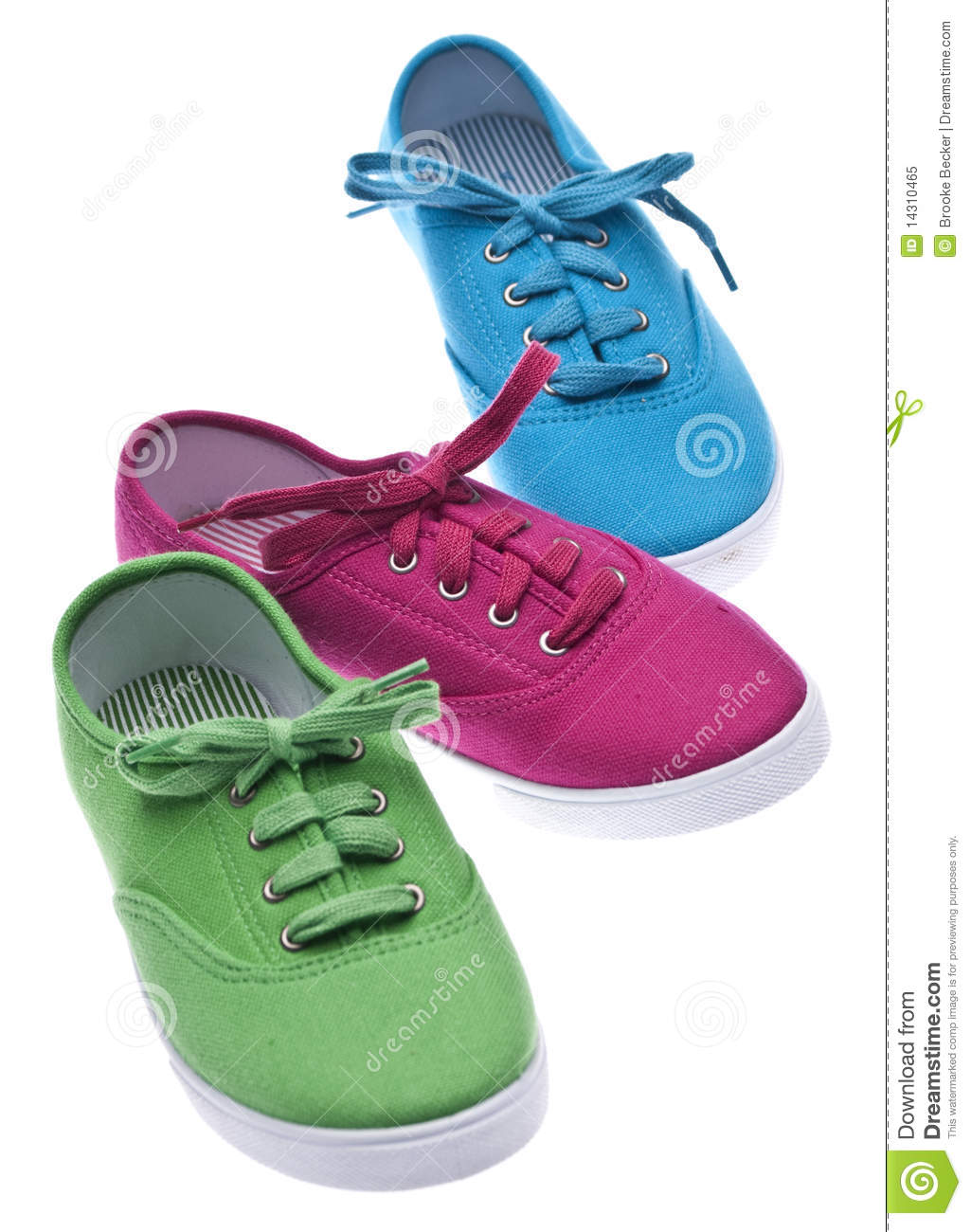colorful canvas shoes royalty free stock photo image