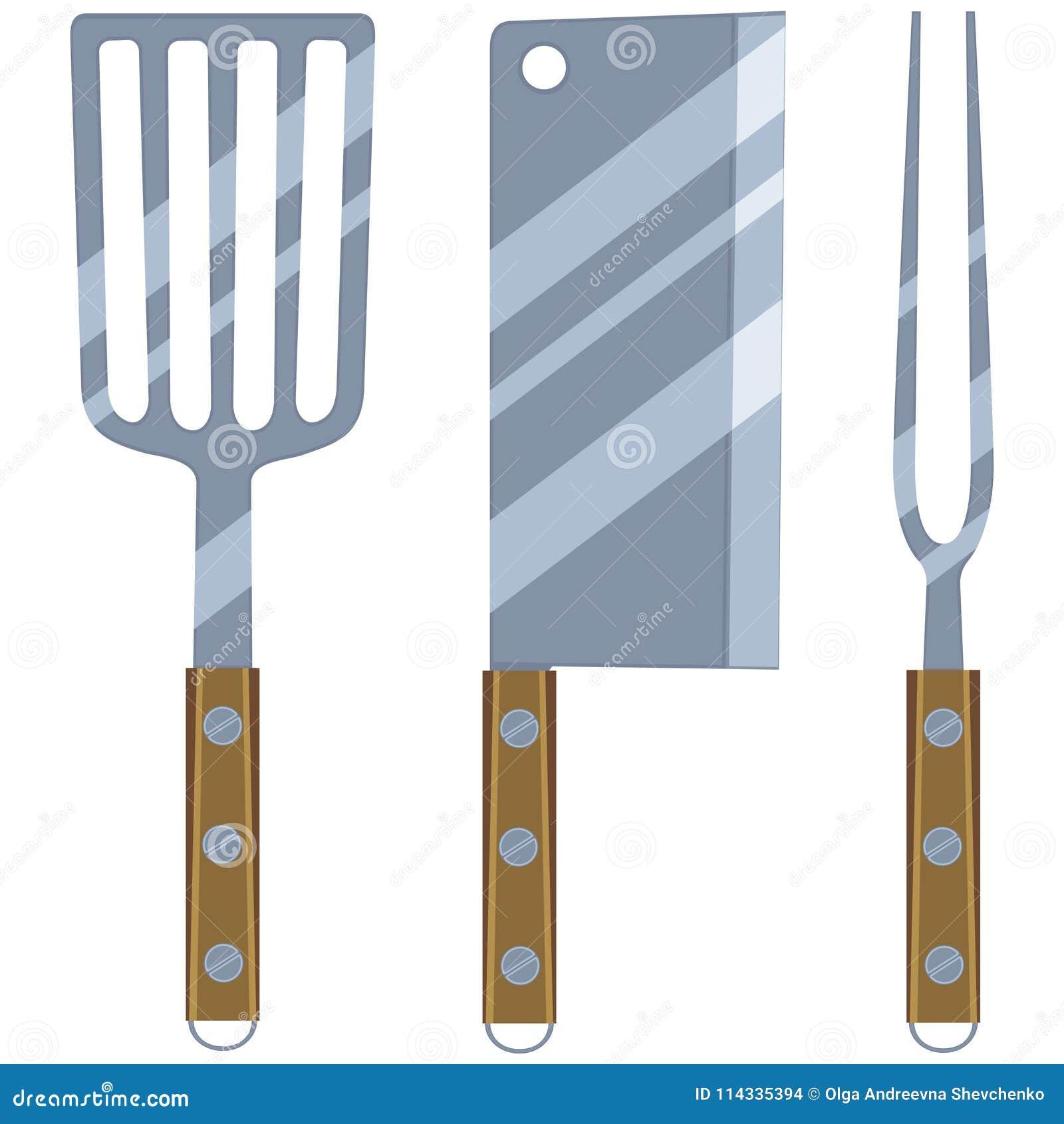 Colorful cartoon bbq cutlery set