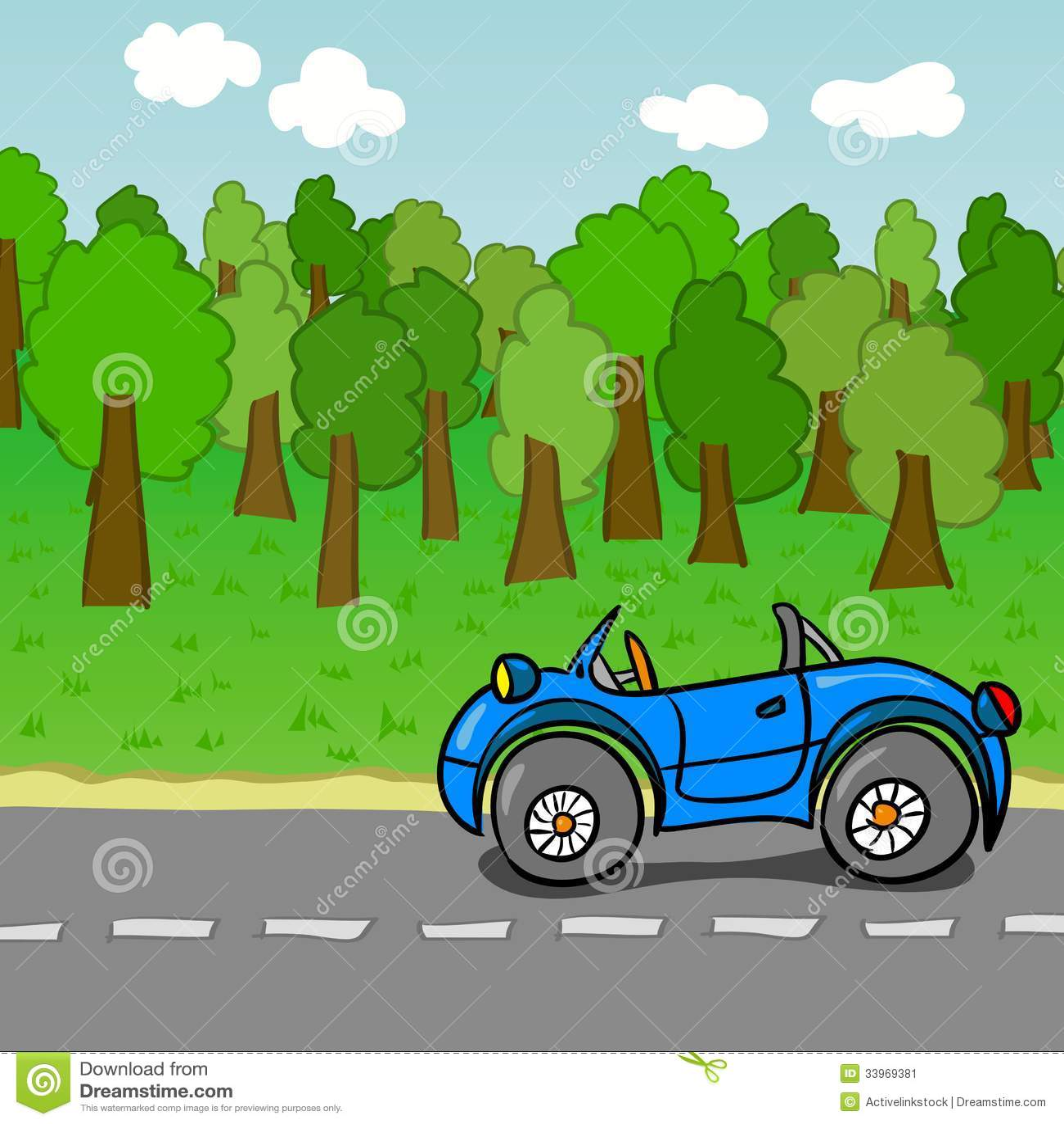 Colorful Cartoon Cars Stock Image Image 33969381