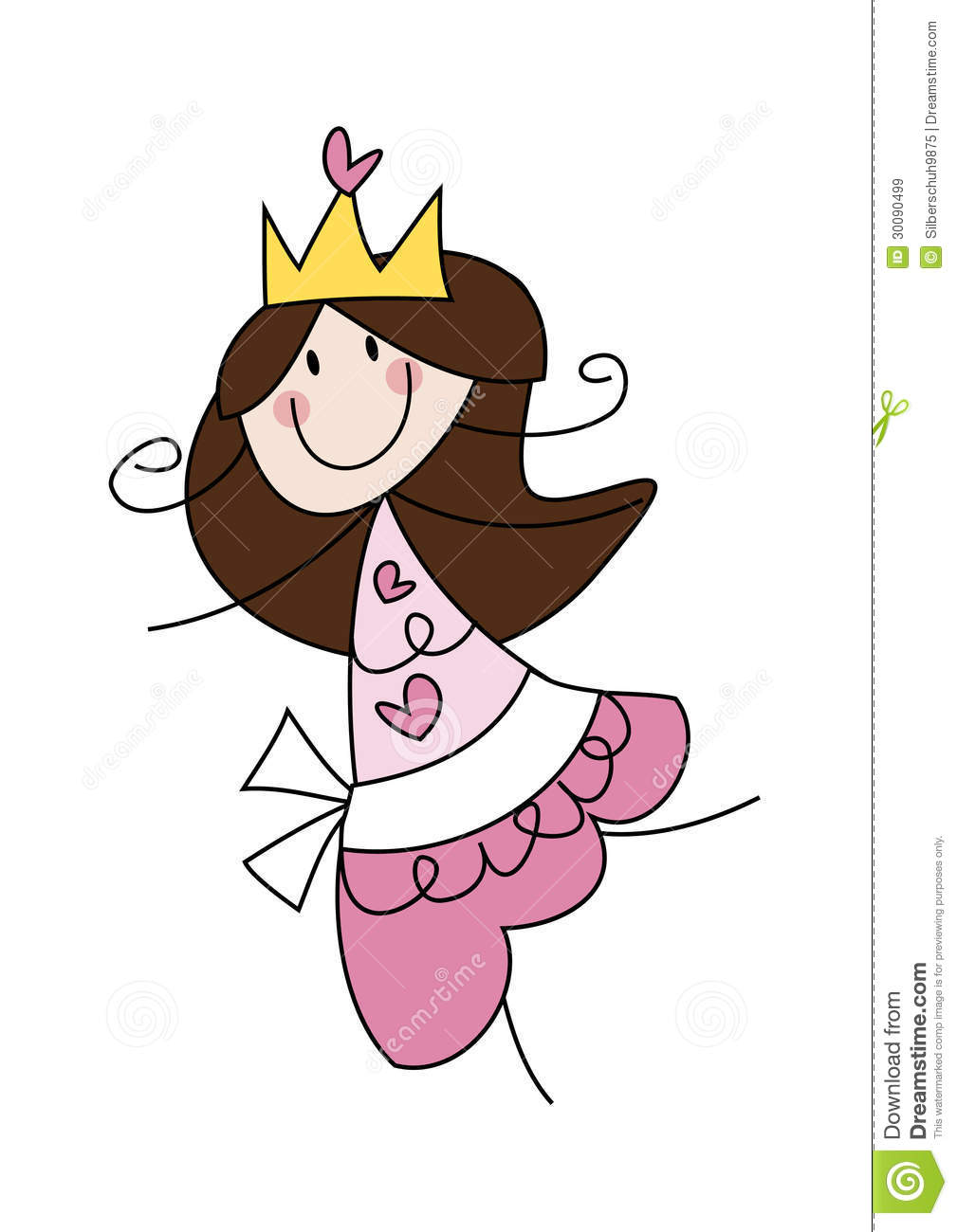 Happy little princess girl stock vector. Image of isolated ...