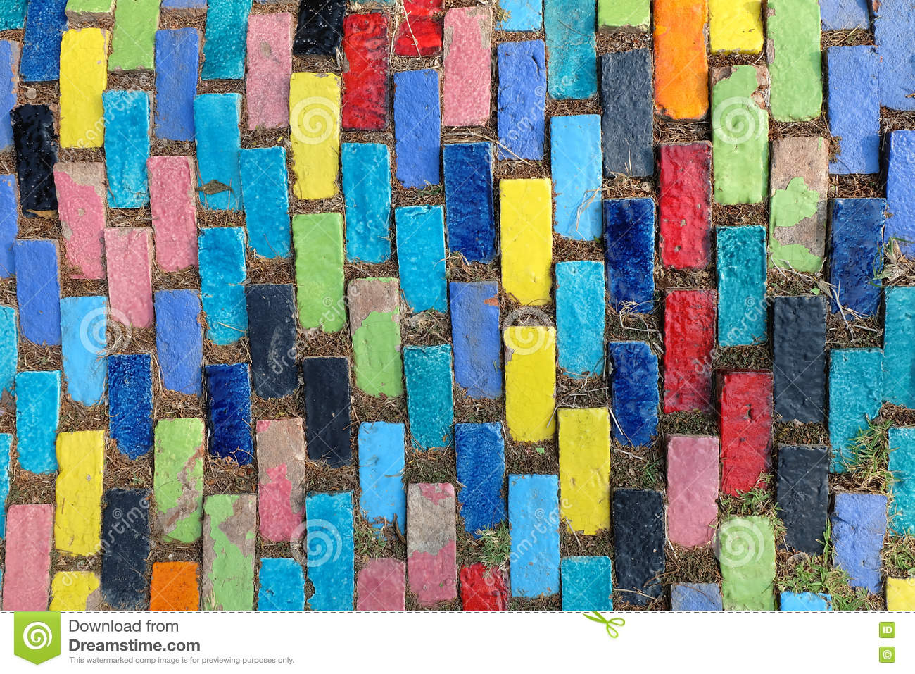 Colorful Texture Pattern Of Ceramic Tile Wall Stock Photography ...