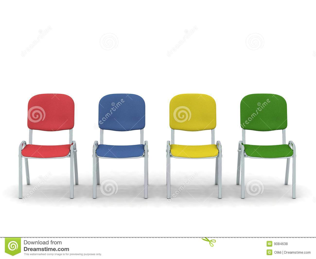 Colorful chairs royalty free stock photos image 9084638 for Different color chairs