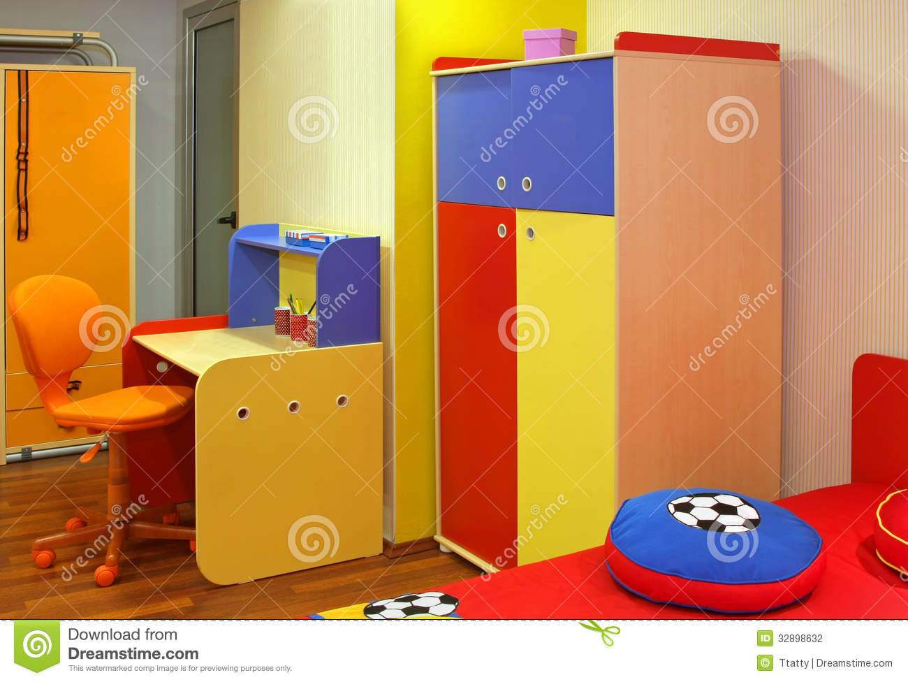 colorful child bedroom stock photography image 32898632