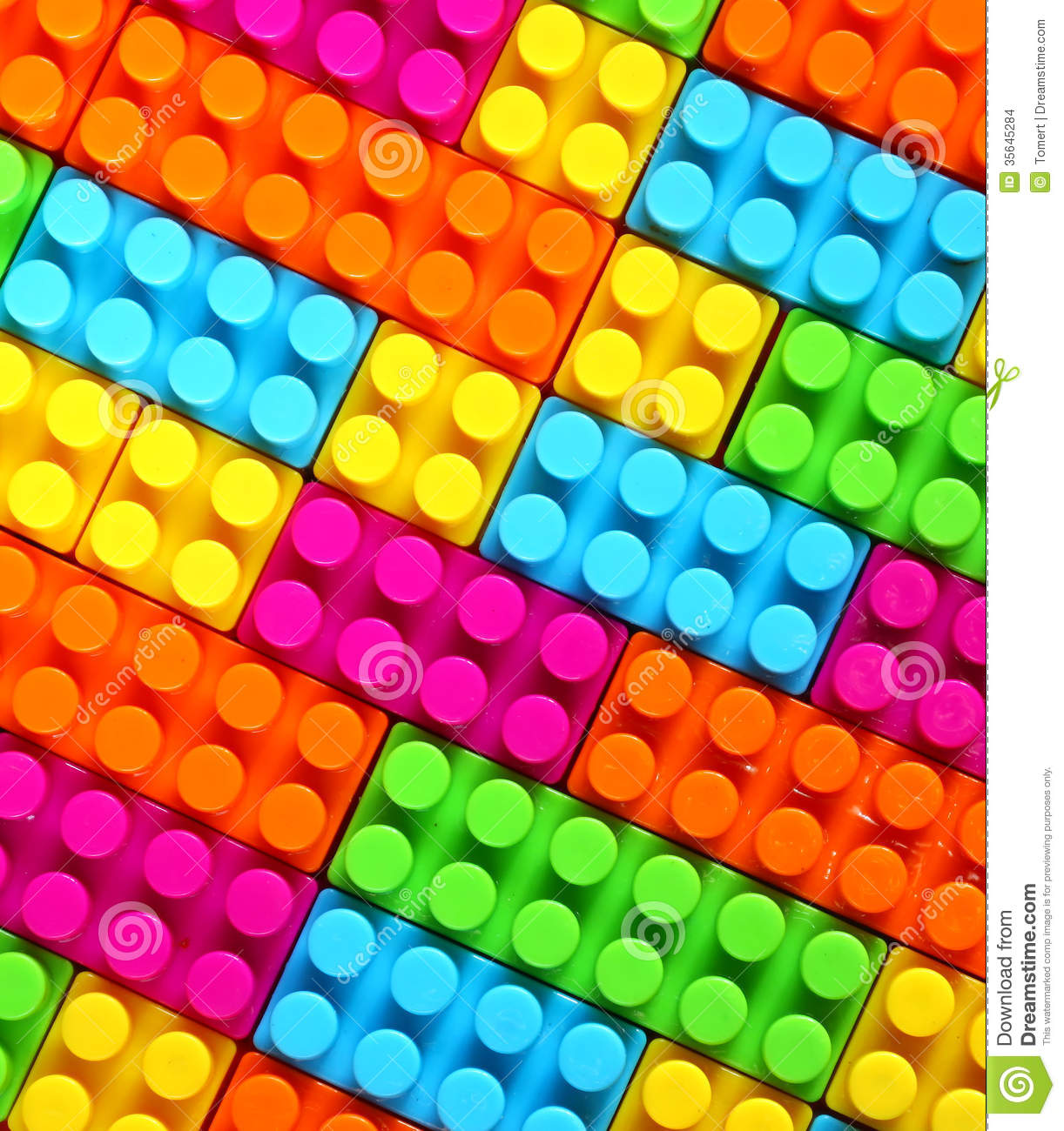 Colorful Children Lego Brick Toy Background Stock Images ...