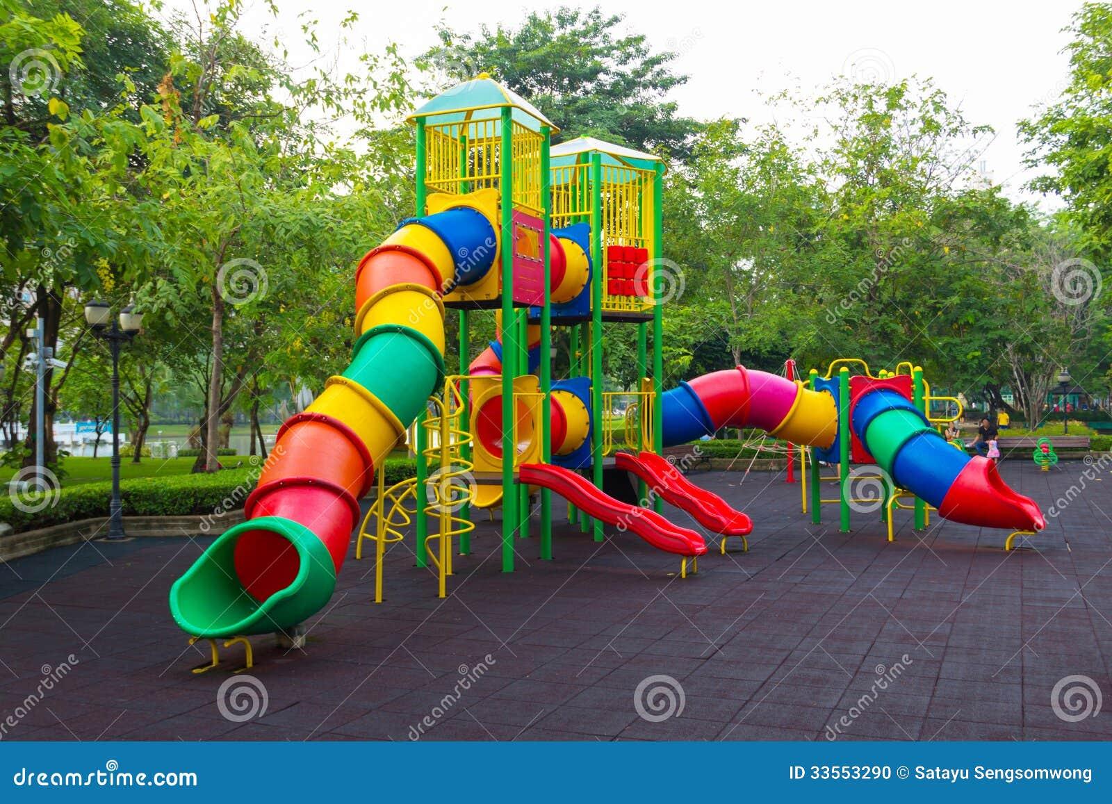 Colorful Children Playground Stock Photo Image 33553290