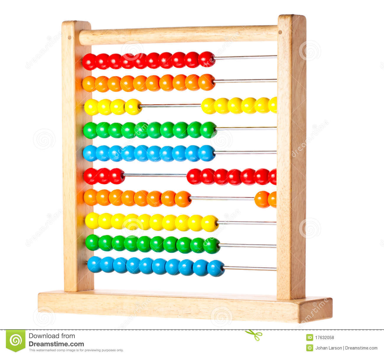 Colorful Childrens Abacus Stock Photo Image Of Education