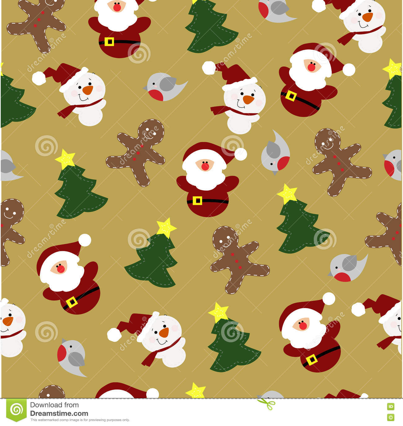 Colorful Childrens Christmas Background With Christmas