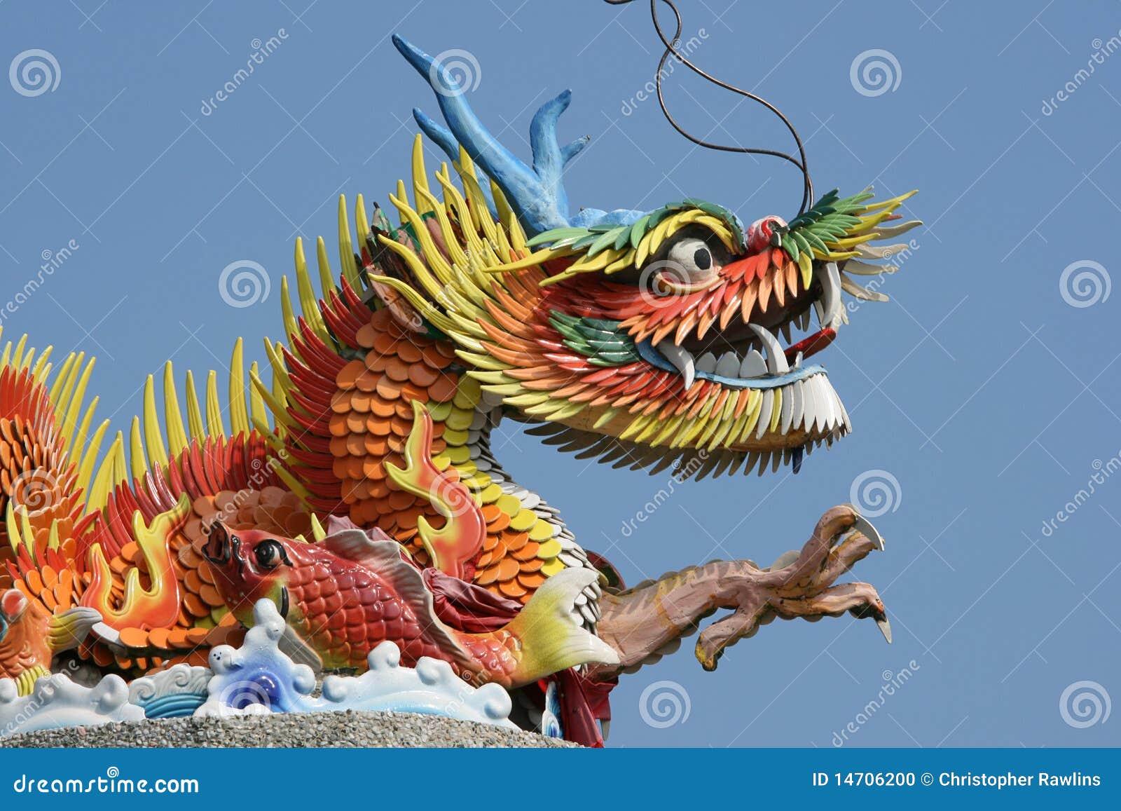 Colorful Chinese Dragon Colorful chinese dragon