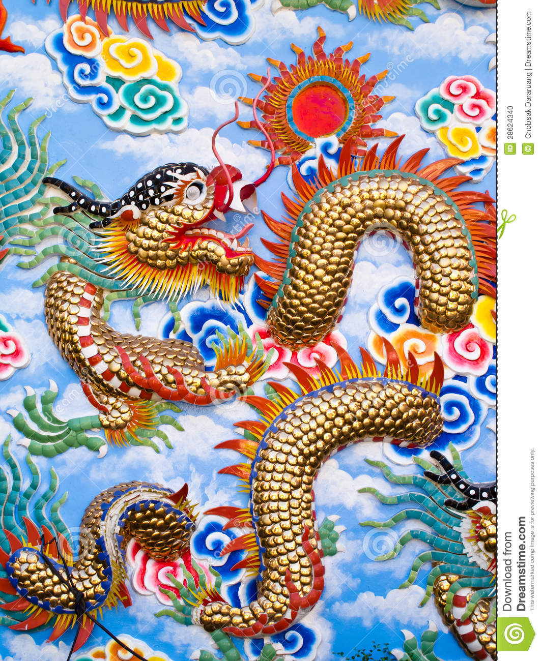 colorful chinese dragon art stock photo image of chinese head