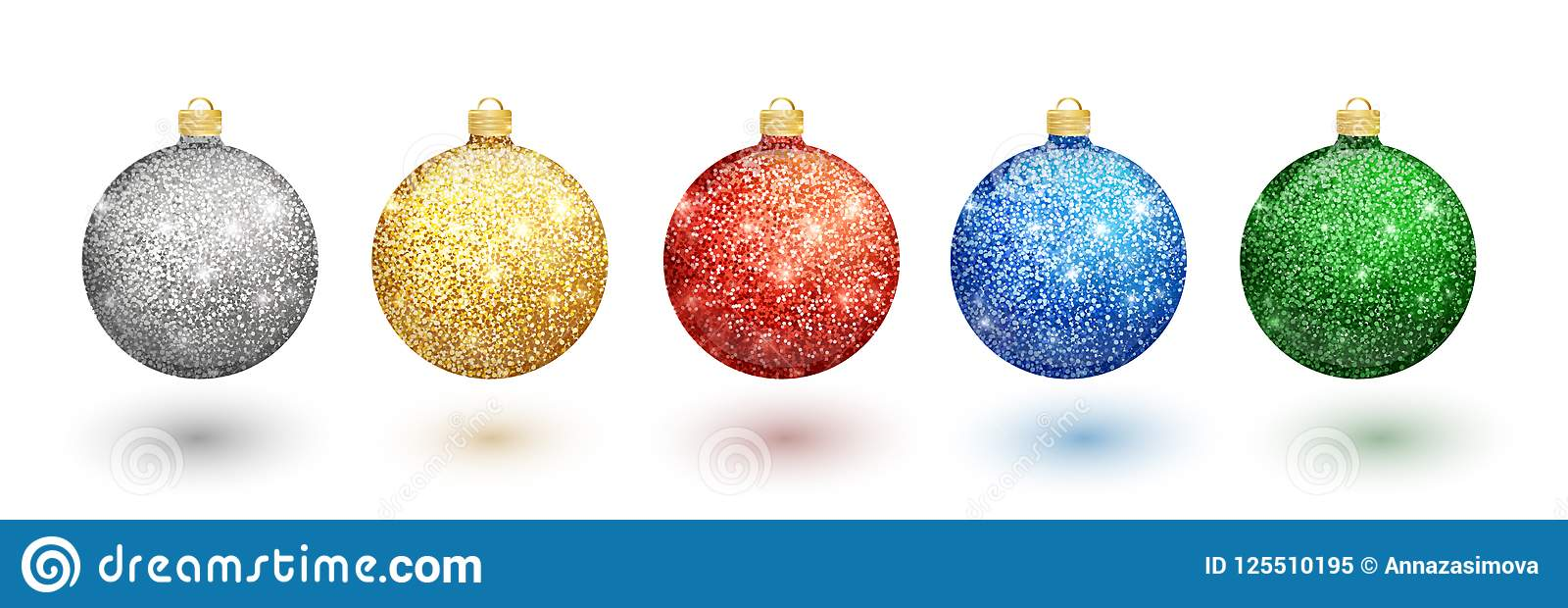 colorful christmas balls set on white background christmas decorations vector object for christmas design - How To Decorate Christmas Balls