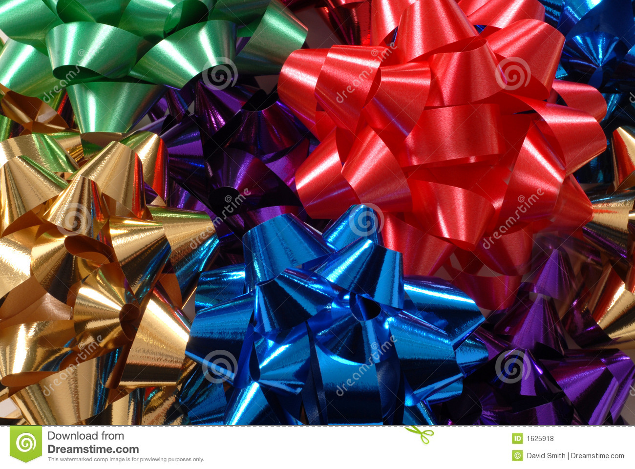 Green Christmas Bow Background Graphics: Colorful Christmas Bows Forming A Vivid Background Royalty