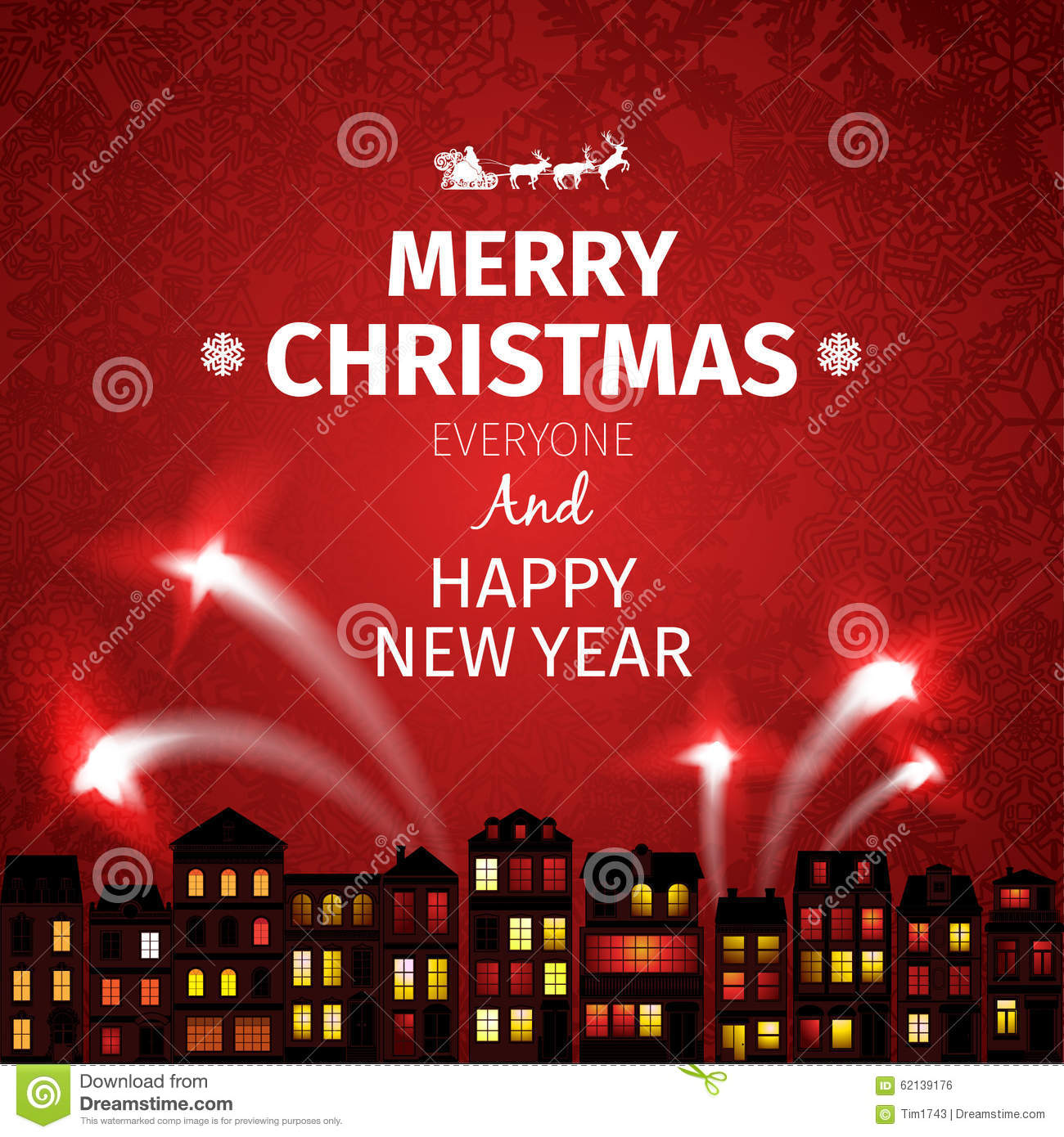 colorful christmas card and new year greetings vector illustration