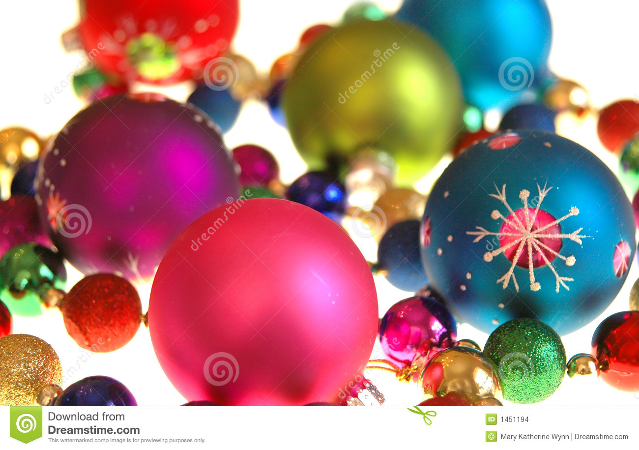 Colorful christmas decorations stock photo image 1451194 for Background decoration images