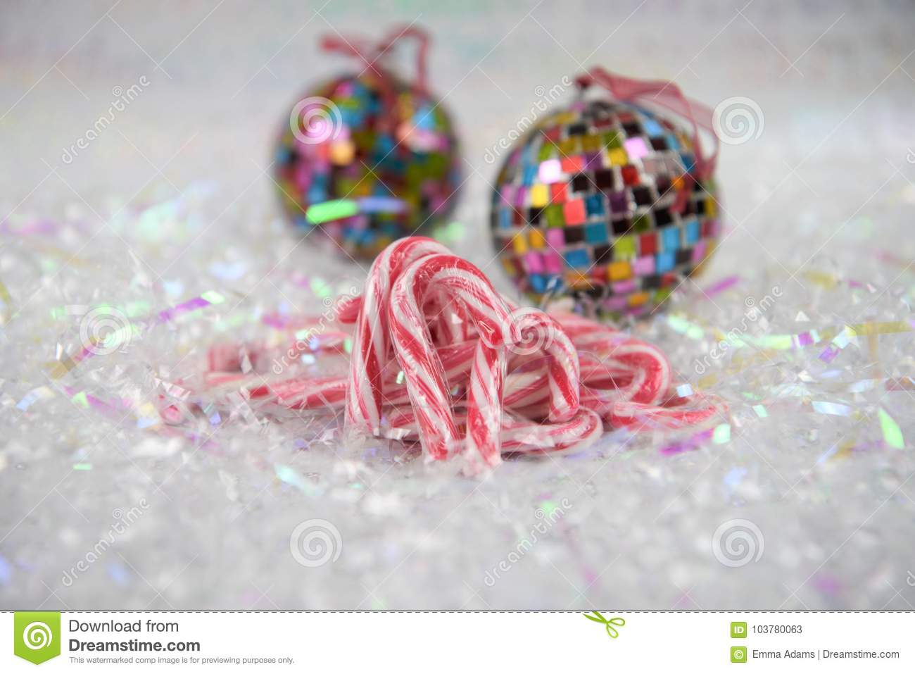 Colorful Christmas Food Photography Picture With Old Fashioned Candy ...