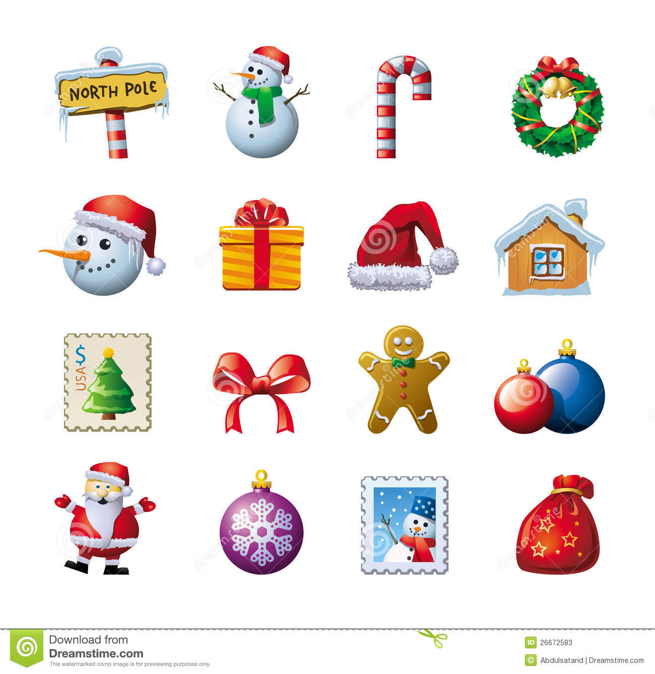 download colorful christmas graphics stock vector illustration of colour icon 26672583