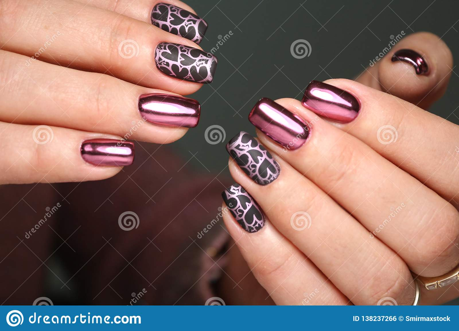 Colorful Christmas Nails Winter Nail Designs With Glitter