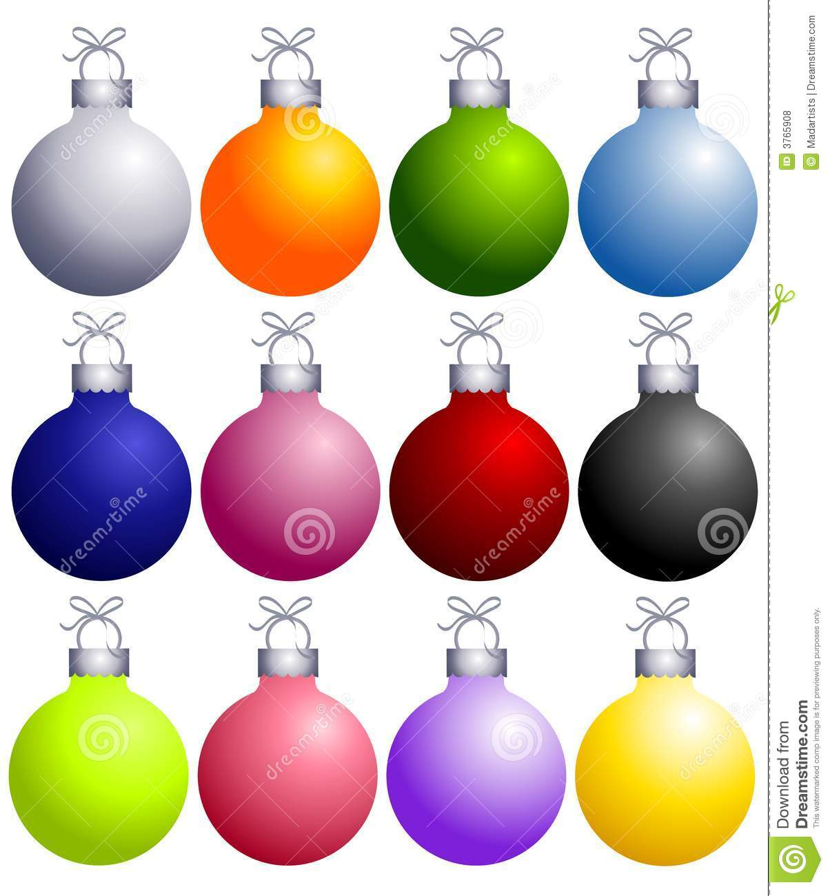 Colorful Christmas Ornaments Collection Stock Illustration ...