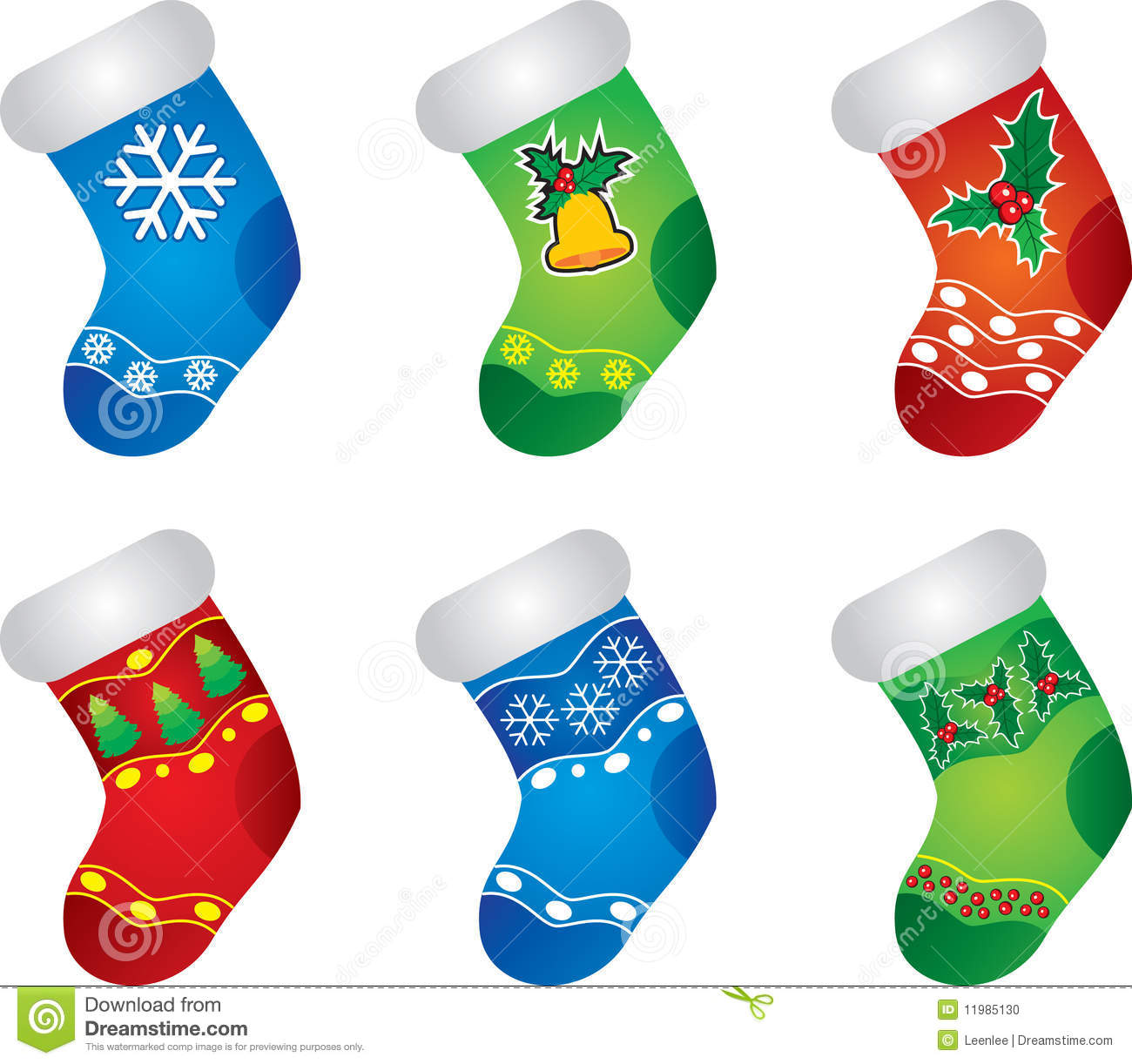 colorful christmas stockings stock photo image 11985130
