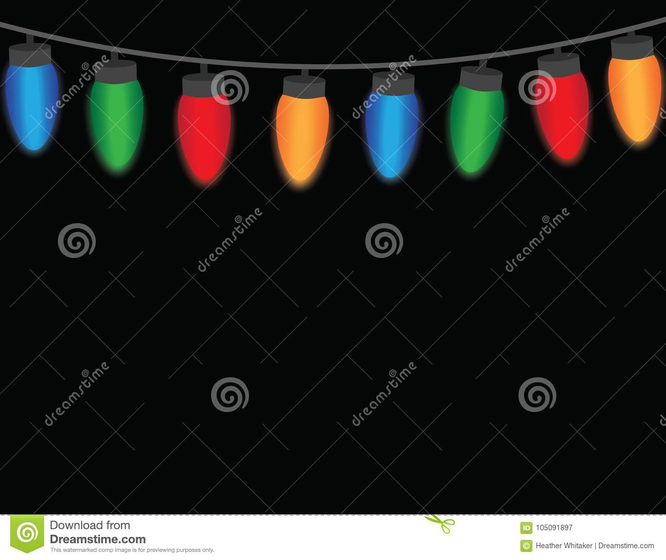 Colorful Christmas String Lights On A Black Background With Space ... for String Lights Black Background  588gtk