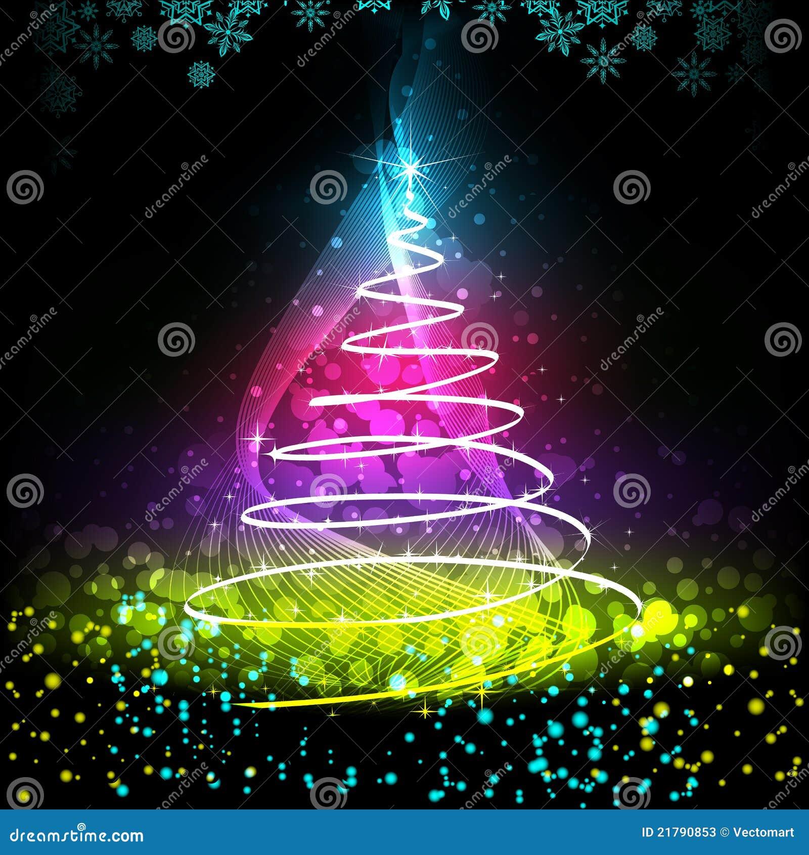 Colorful Christmas Tree Stock Photos - Image: 21790853