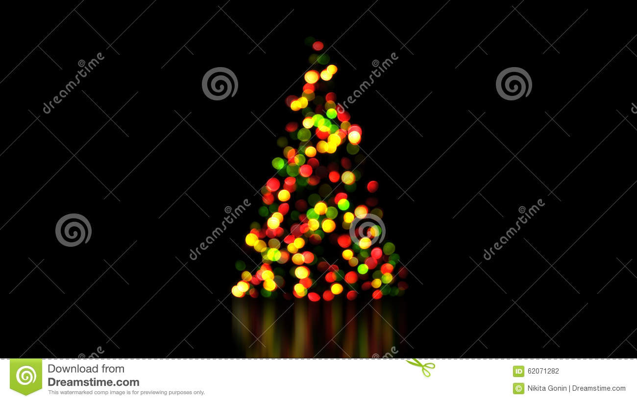 Colorful Christmas Tree Lights Out Of Focus Stock
