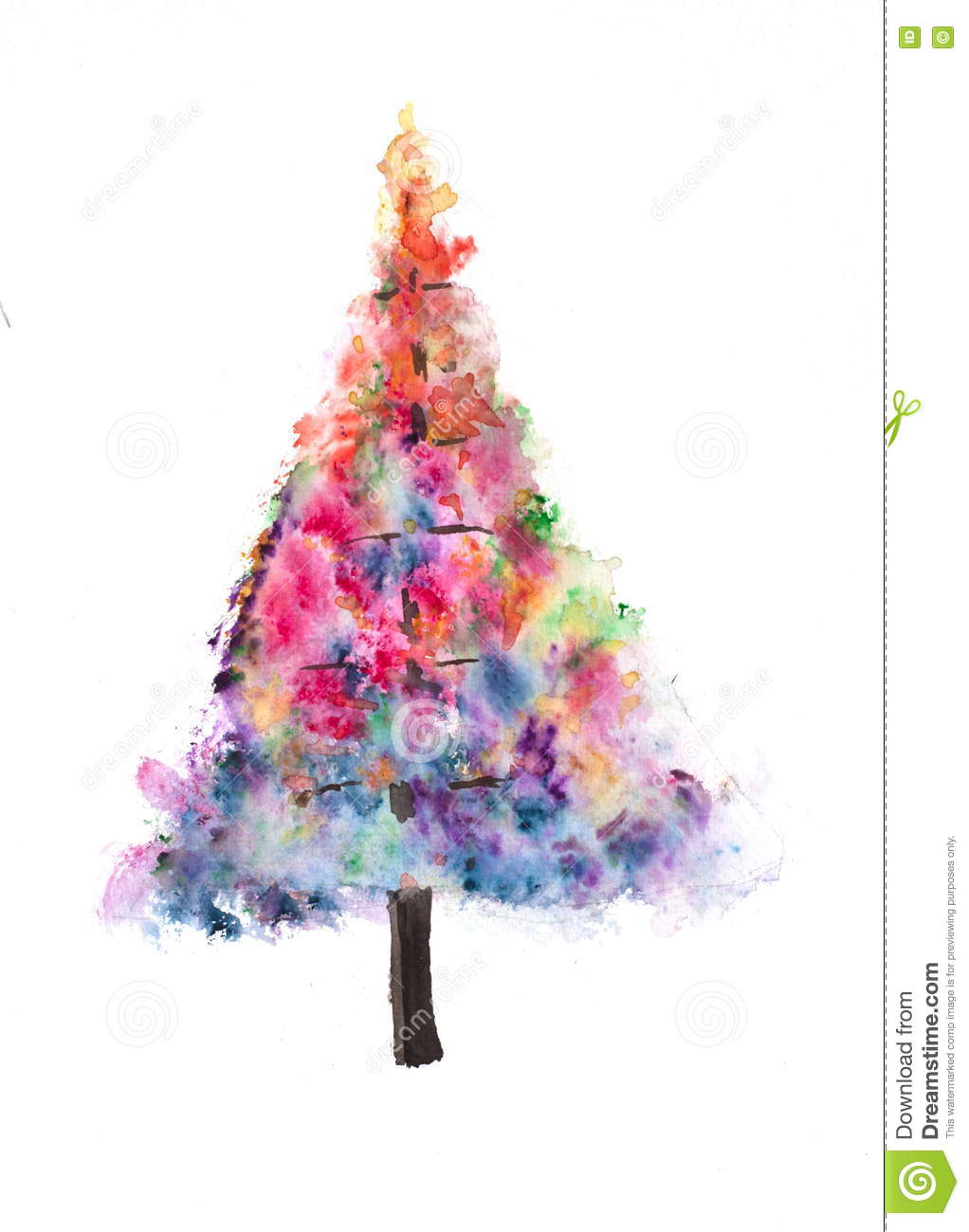 Colorful Christmas Tree On White Stock Illustration Illustration Of Abstract Colorful 77750101