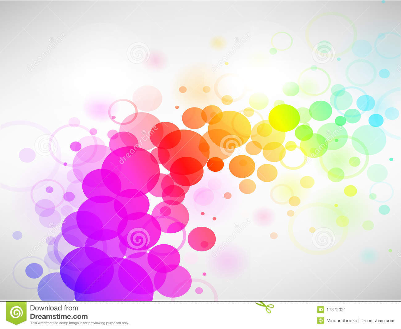 Colorful Circle Abstract Background Stock Image Image