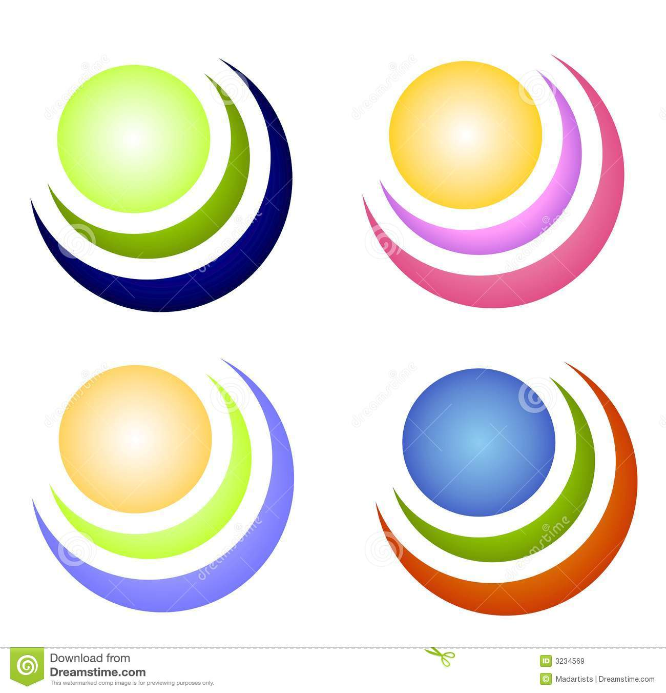 Colorful Circle Icons or Logos