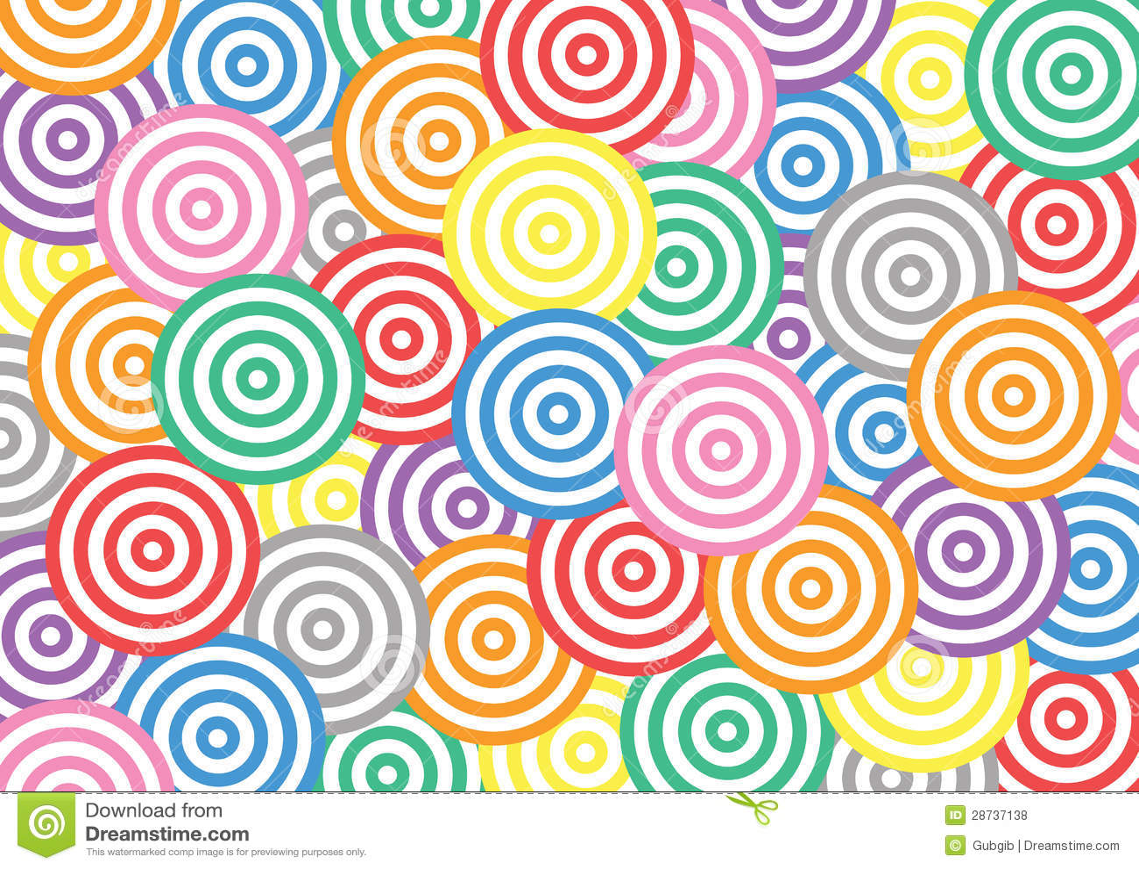 Colorful Circle Pattern Royalty Free Stock Photos - Image: 28737138