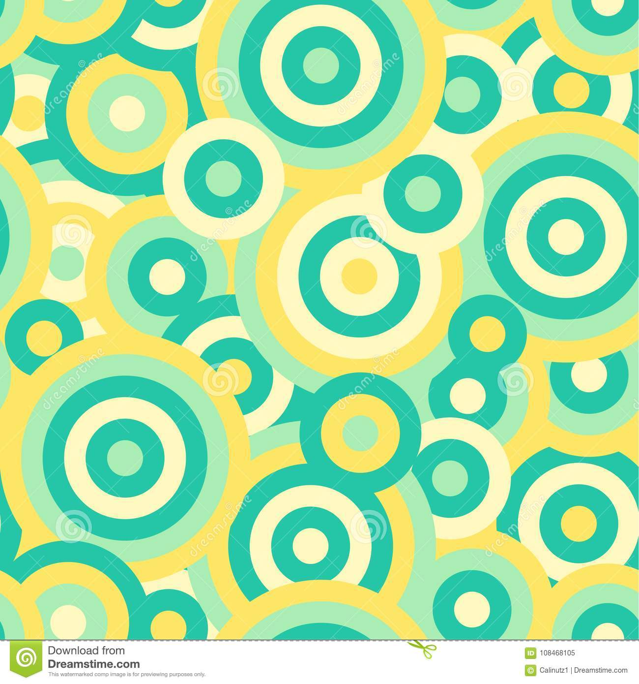 Colorful circles seamless repetitive vector pattern texture background