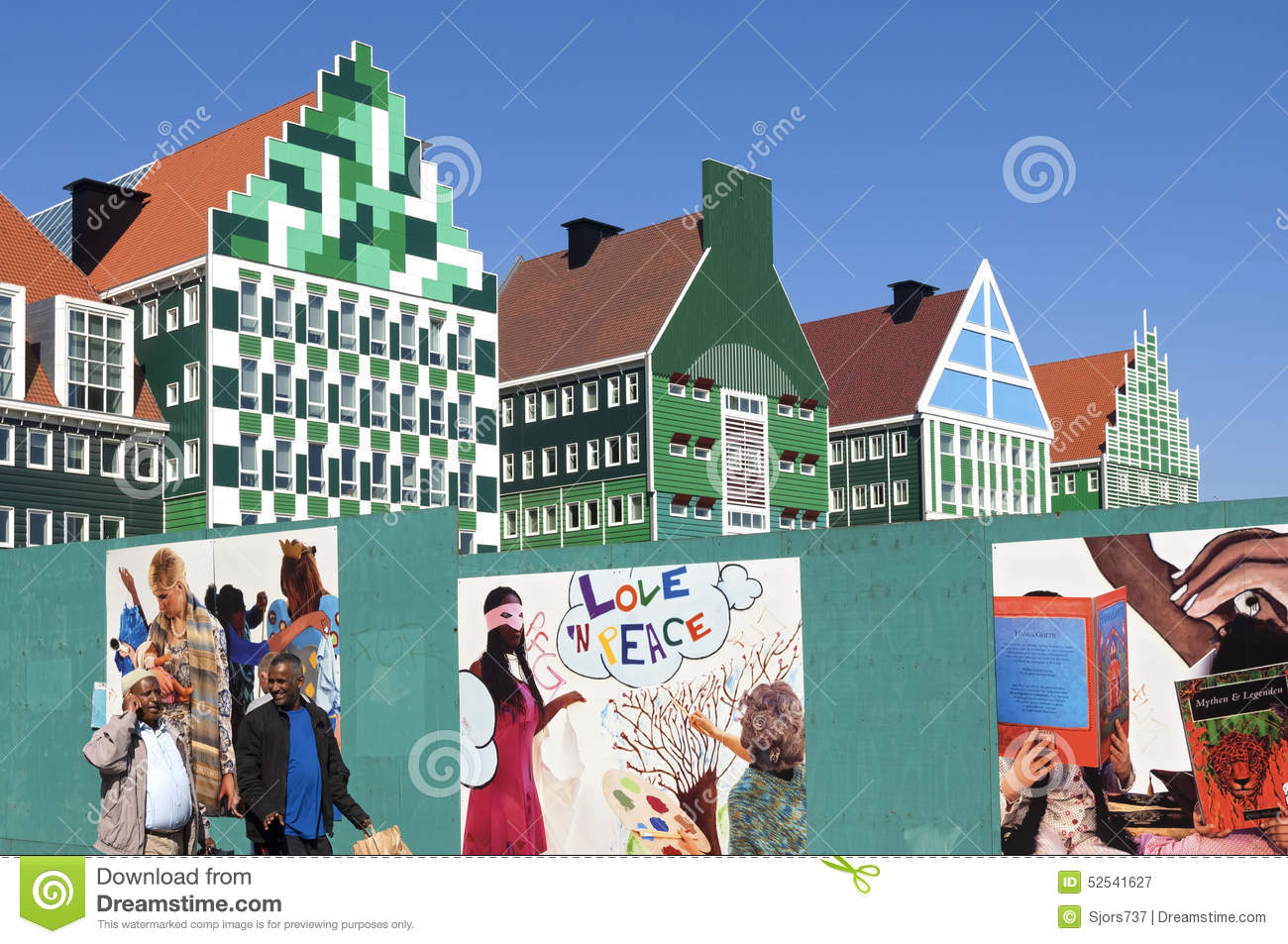 Colorful City Hall Zaandam, Netherlands