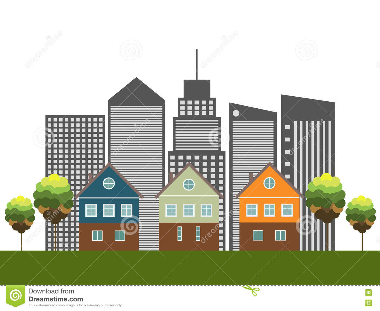 Colorful city houses for sale rent real estate stock for Eco houses for sale
